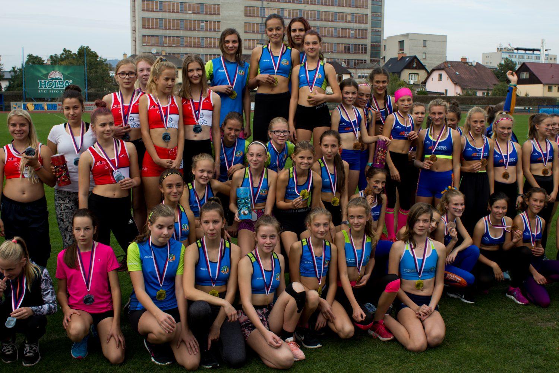 Skvělé vítězství mladších žákyň na Mistrovství Moravy a Slezska družstev