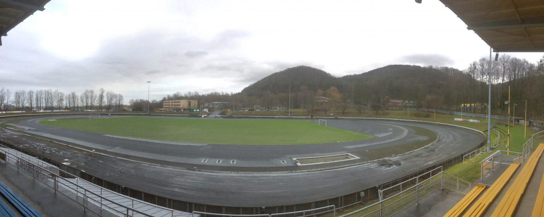 Průběh rekonstrukce atletického stadionu